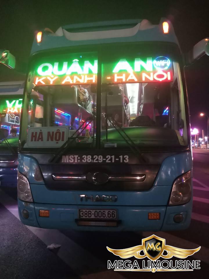 Xe Hà Nội Hà Tĩnh - Xe Quân An