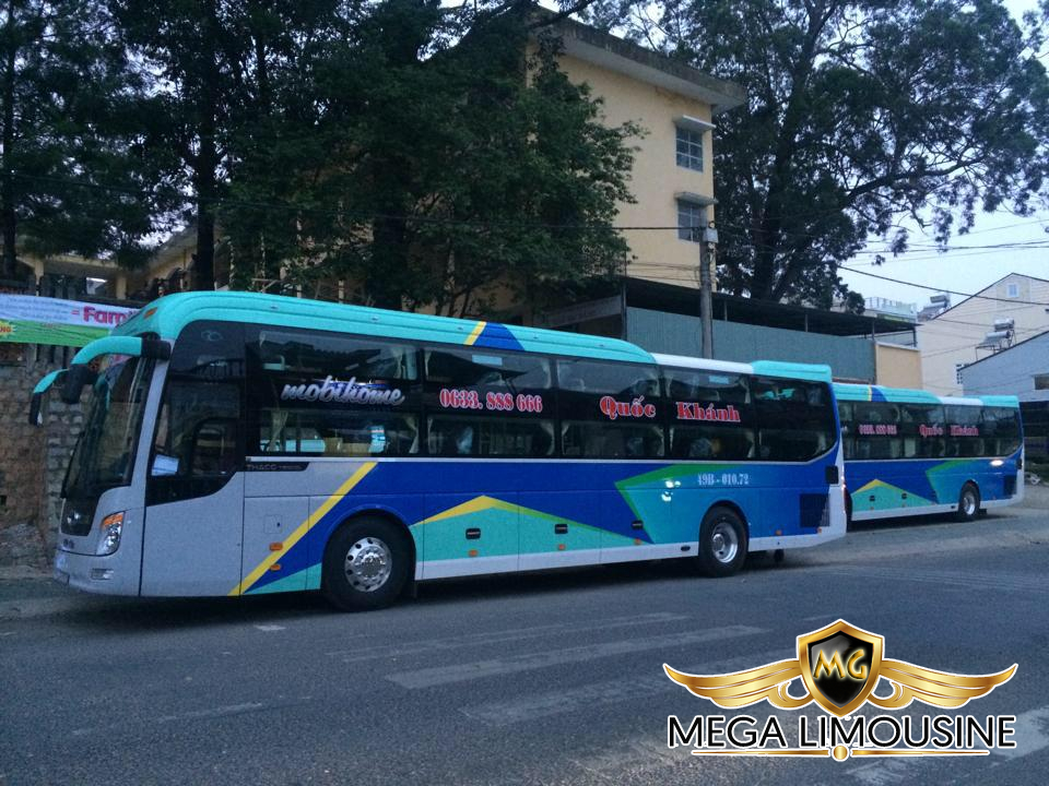 Xe Đà Nẵng Đà Lạt - Hãng xe Quốc Khánh giường nằm chất lượng cao
