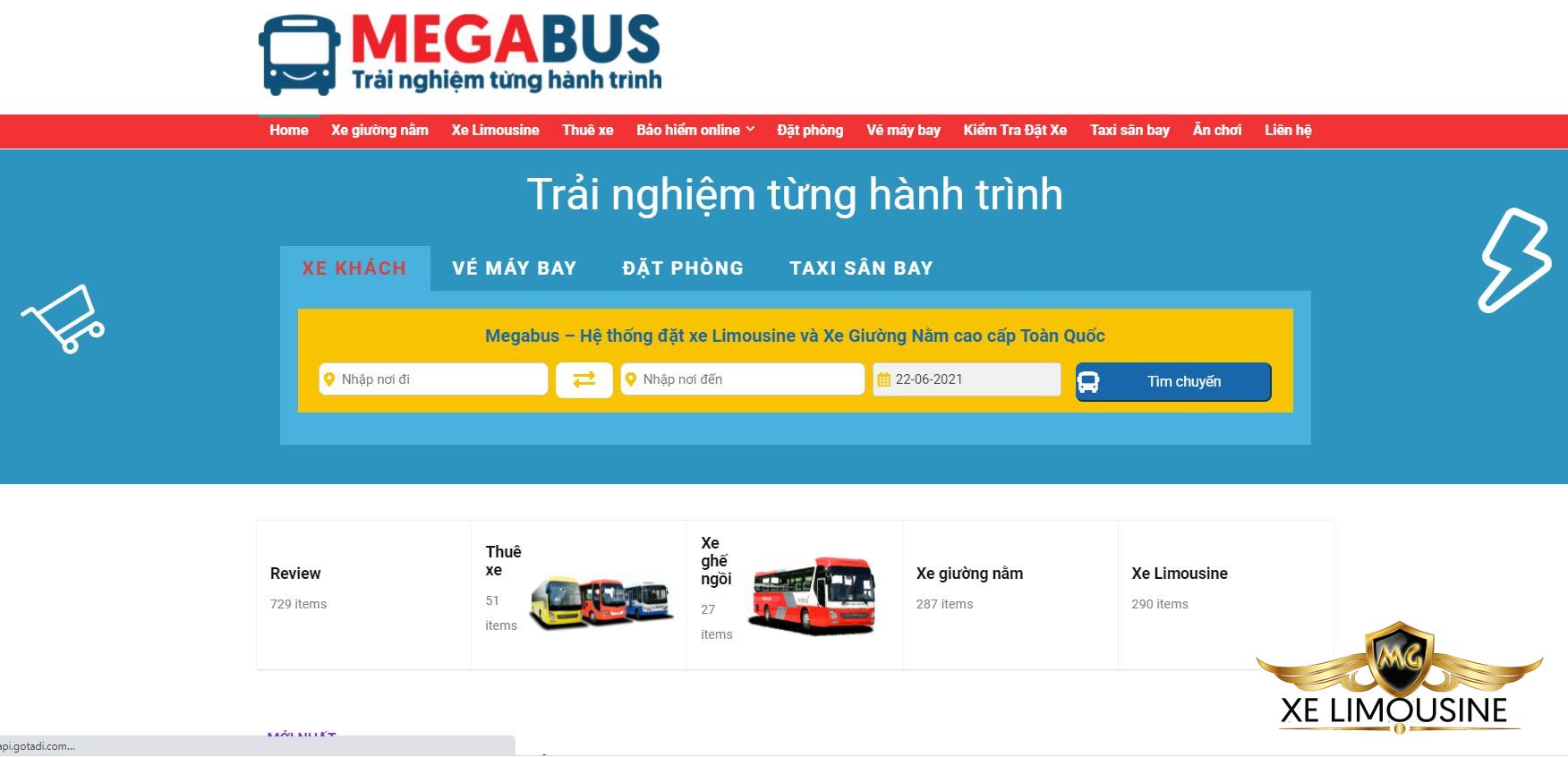 Đặt vé xe G5car limousine Sài Gòn Mũi Né nhanh nhất tại Megabus
