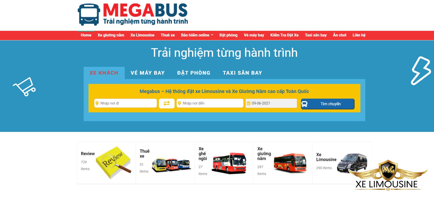 Đặt vé xe Toàn Thắng Limousine nhanh nhất tại Megabus.vn